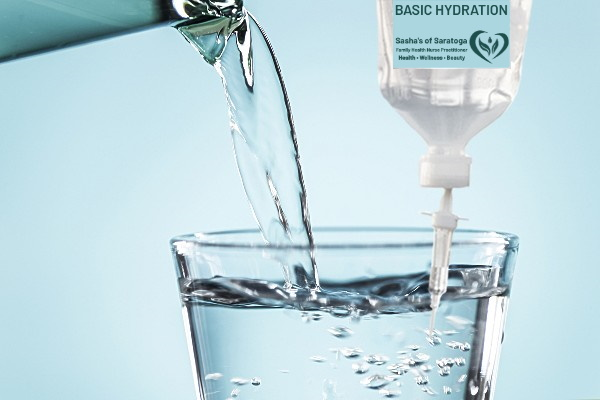 Basic Hydration - water pouring into glass