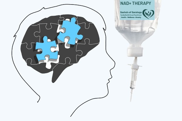 NAD+ Therapy - brain with puzzle pieces