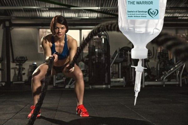 The Warrior - woman exercising with ropes